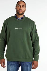 URBN SAINT sweater met biologisch katoen groen, Groen