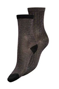 ONLY lurex sokken - set van 2 zwart, Zwart