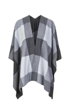 poncho zwart/grijs