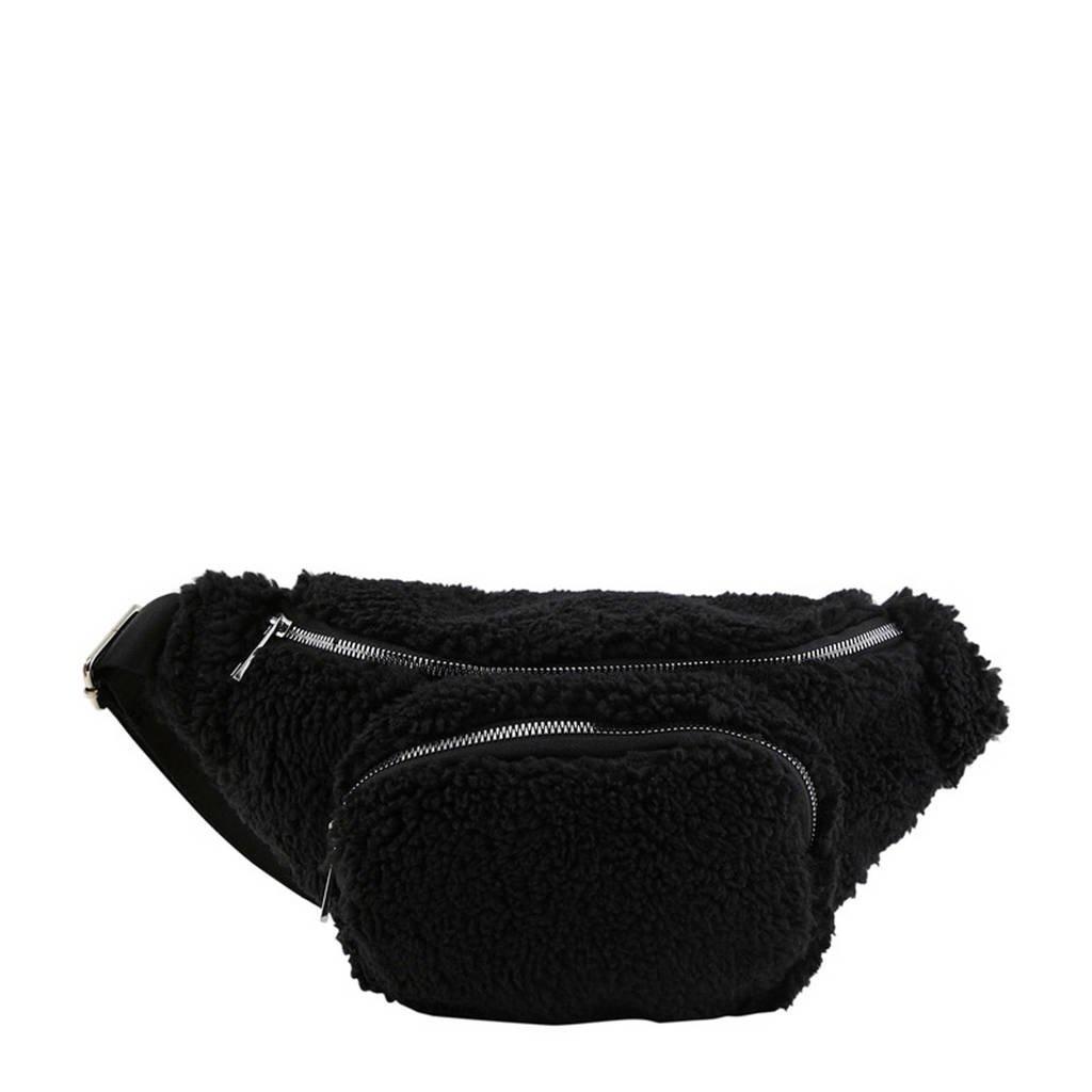 PIECES  teddy heuptas zwart, Zwart