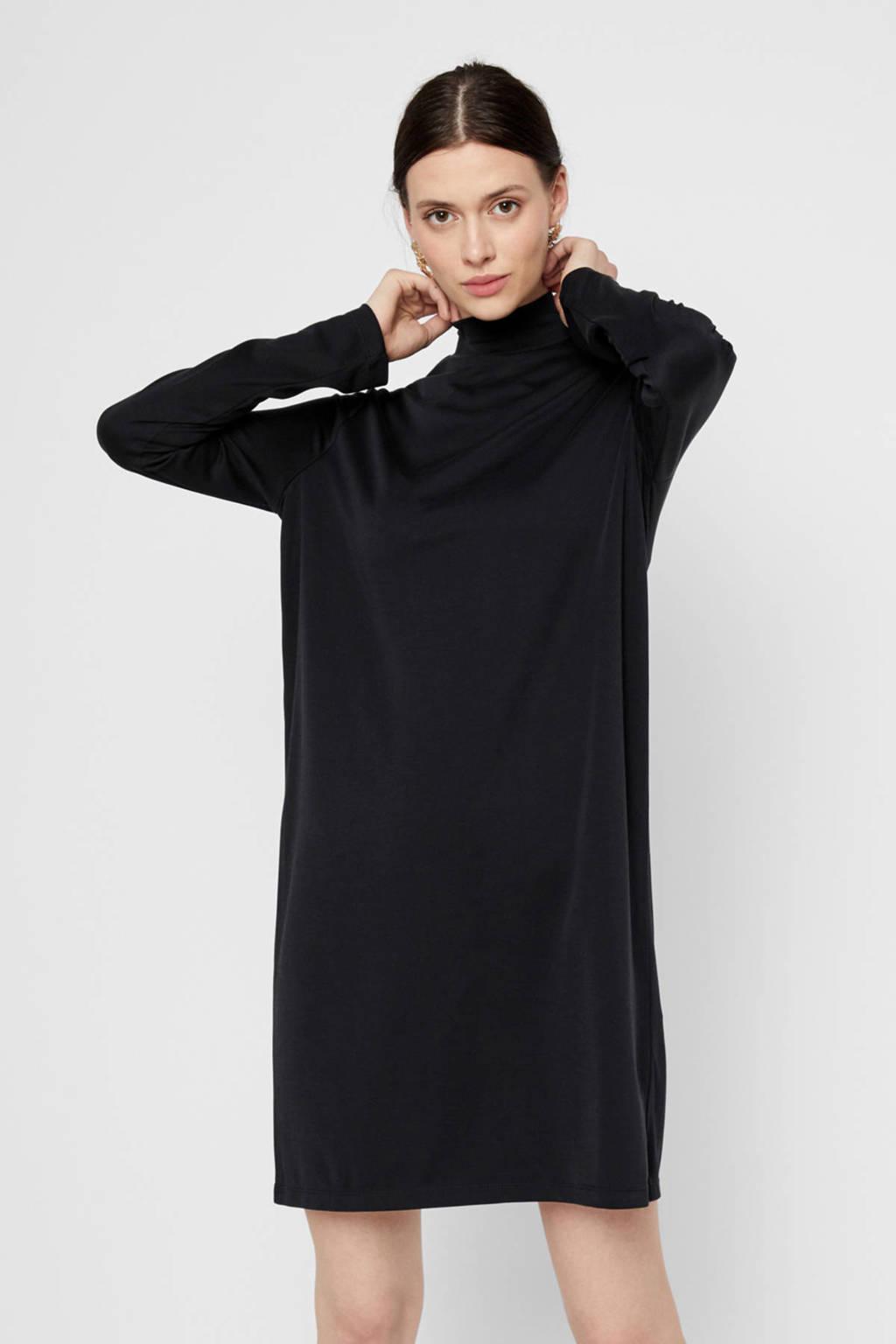 PIECES gebreide jurk zwart, Zwart