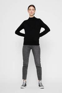 PIECES fijngebreide trui zwart, Zwart