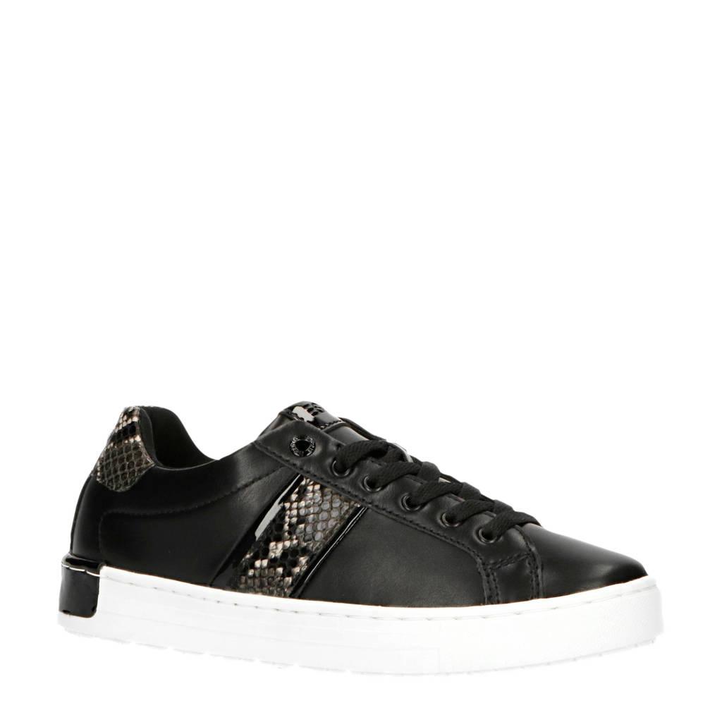 ESPRIT Kent Lace Up  sneakers zwart/slangenprint, Zwart/multi