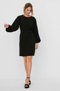 VERO MODA jurk Coral met ceintuur zwart, Zwart