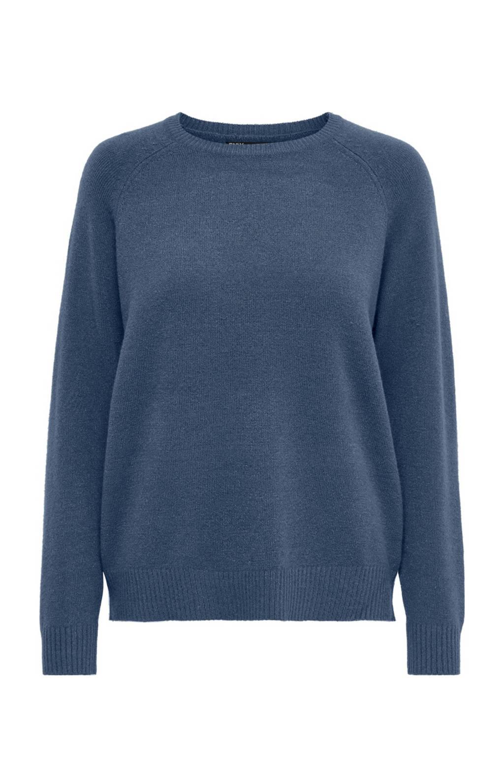 ONLY gemêleerde trui blauw, Blauw