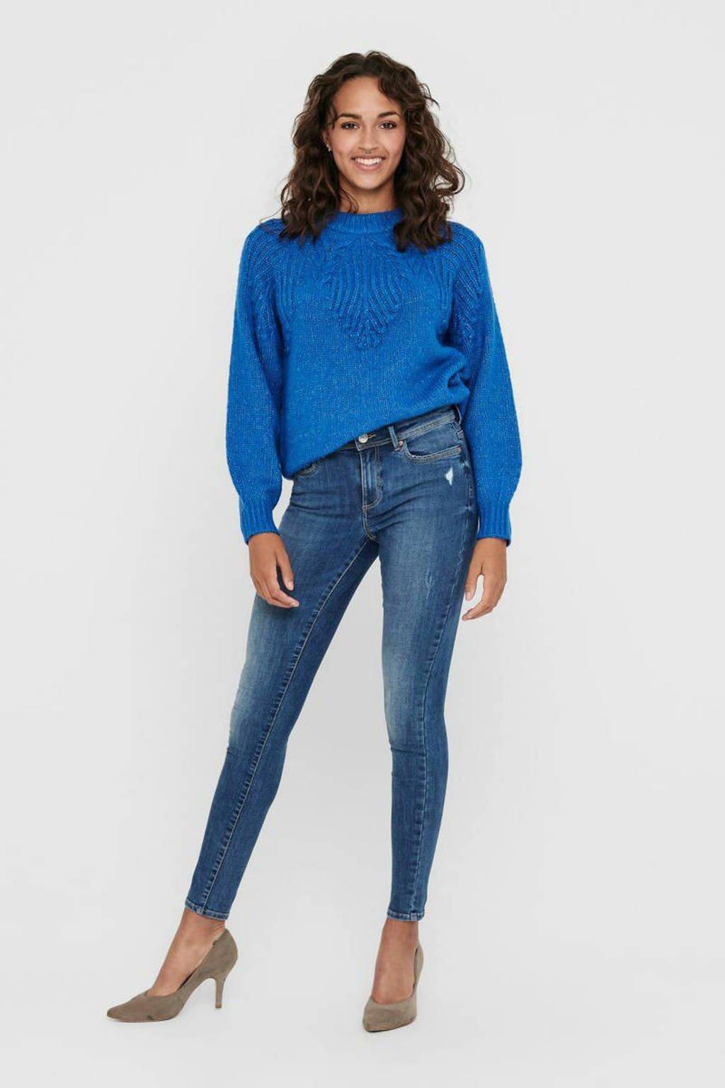 ONLY skinny jeans Wauw met biologisch katoen blauw, Blauw