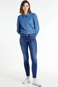 ONLY skinny jeans Isa donkerblauw, Donkerblauw