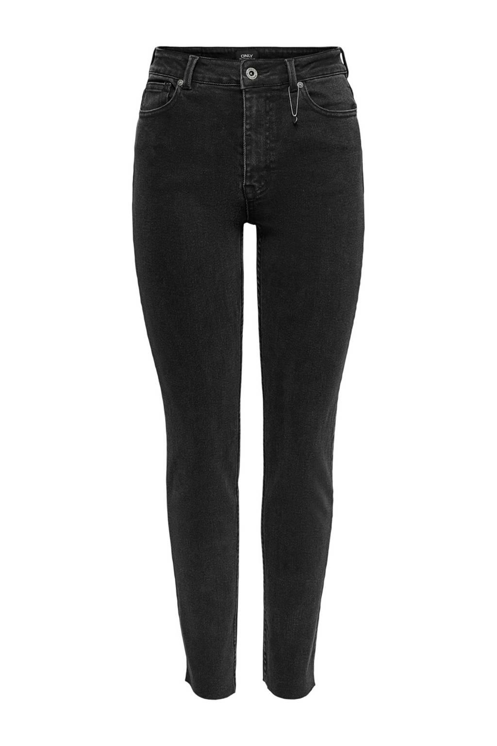ONLY slim fit jeans zwart, Zwart