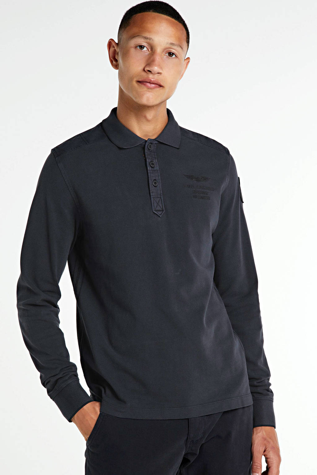 PME Legend regular fit polo donkerblauw, Donkerblauw