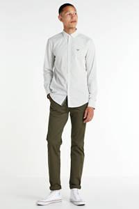 PME Legend regular fit overhemd met all over print wit, Wit