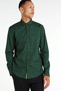 PME Legend regular fit overhemd met all over print donkergroen, Donkergroen