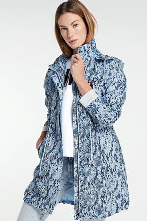 parka blauw all-over print