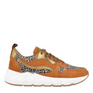 Minio  sneakers cognac/panterprint