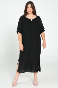 Paprika maxi jurk zwart, Zwart