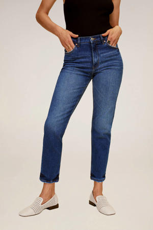 cropped high waist slim fit jeans blue denim