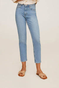 Mango high waist mom jeans light blue denim, Light blue denim