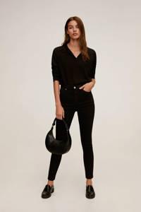 Mango high waist skinny jeans Noa black denim, Black denim