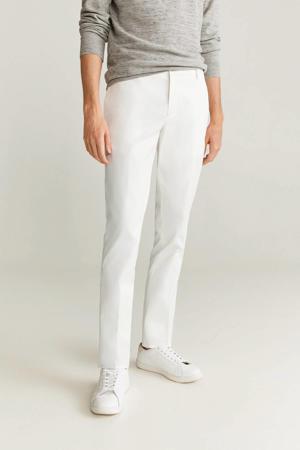 slim fit pantalon wit