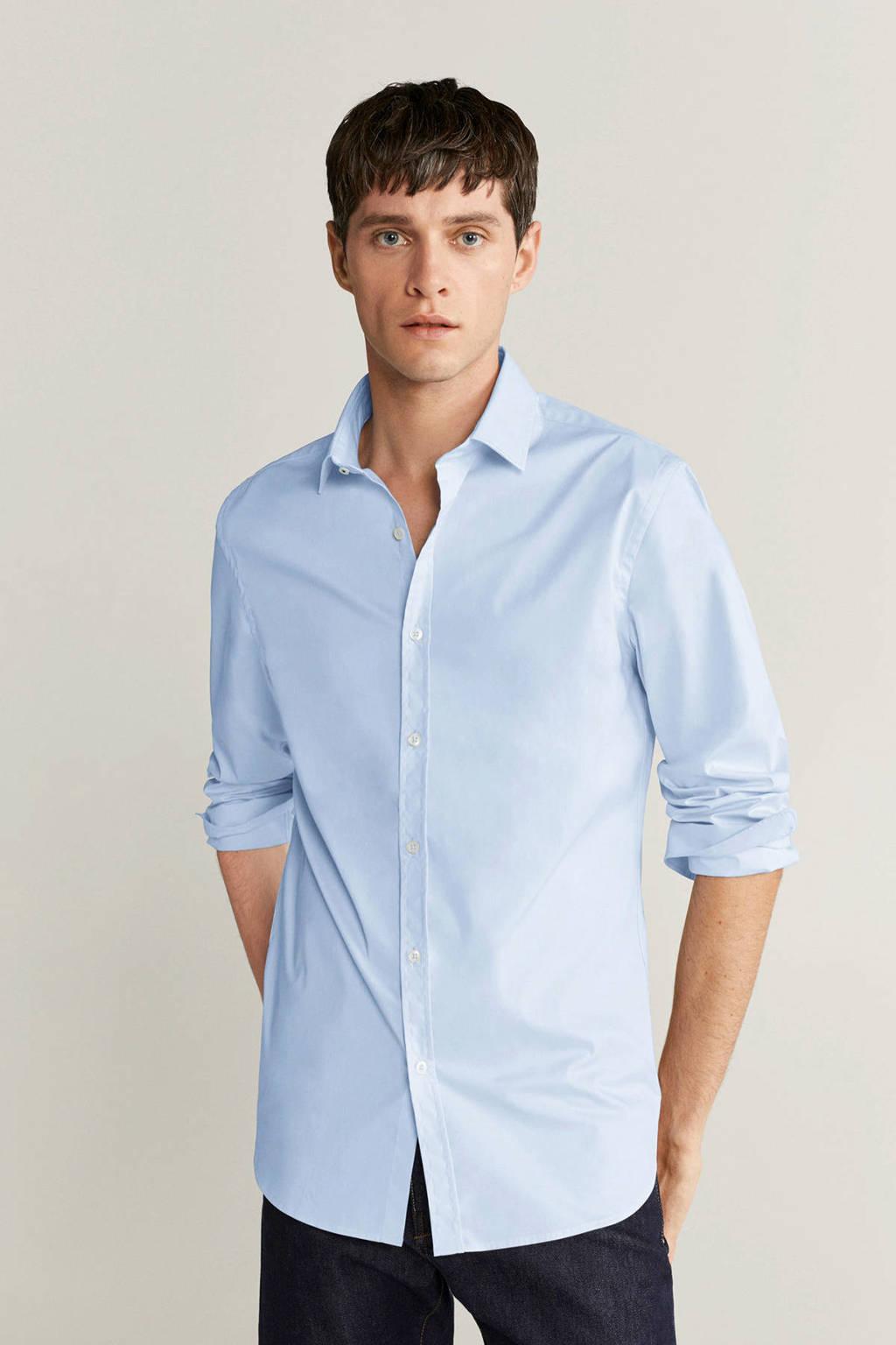 Mango Man slim fit overhemd lichtblauw, Lichtblauw