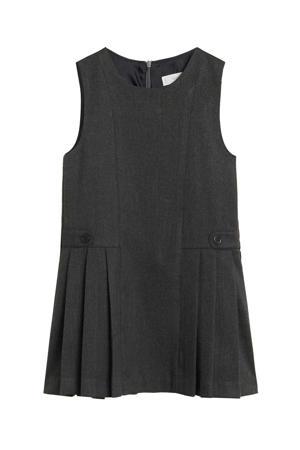 jurk met plooien donkergrijs