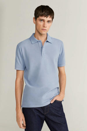 slim fit polo lichtblauw