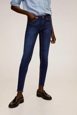 low waist push-up skinny jeans Kim dark blue denim