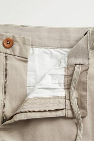 tapered fit pantalon beige