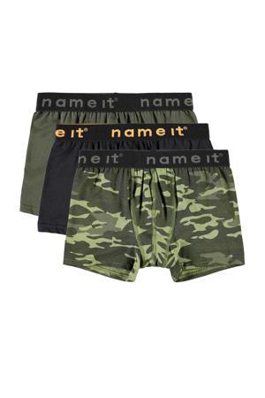 boxershort - set van 3 camouflage groen