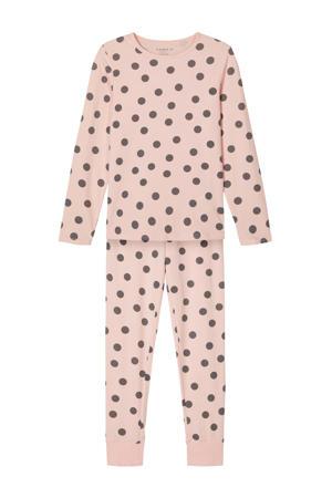 pyjama lichtroze/antraciet