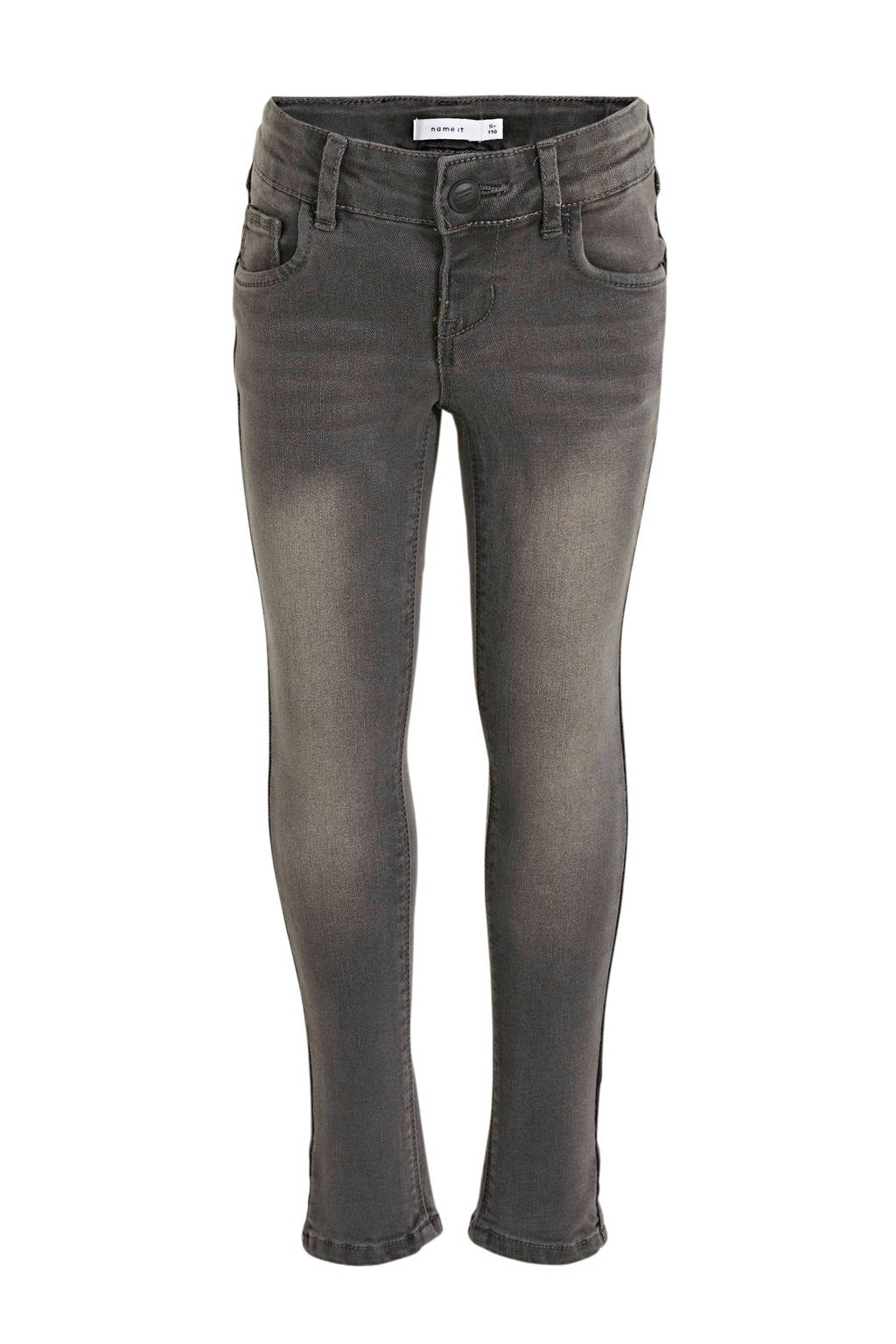 NAME IT KIDS skinn fit jeans Polly grijs stonewashed, Grijs stonewashed