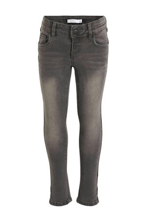 skinn fit jeans Polly grijs stonewashed