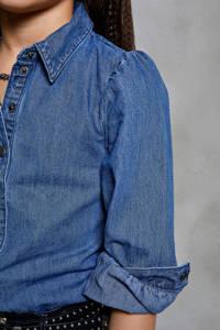 KIDS ONLY spijkerblouse Rocco met plooien blauw, Blauw
