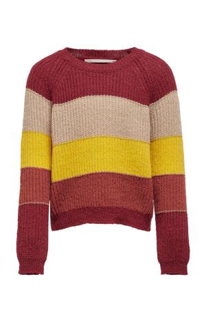 trui Malone rood/geel/donker oranje