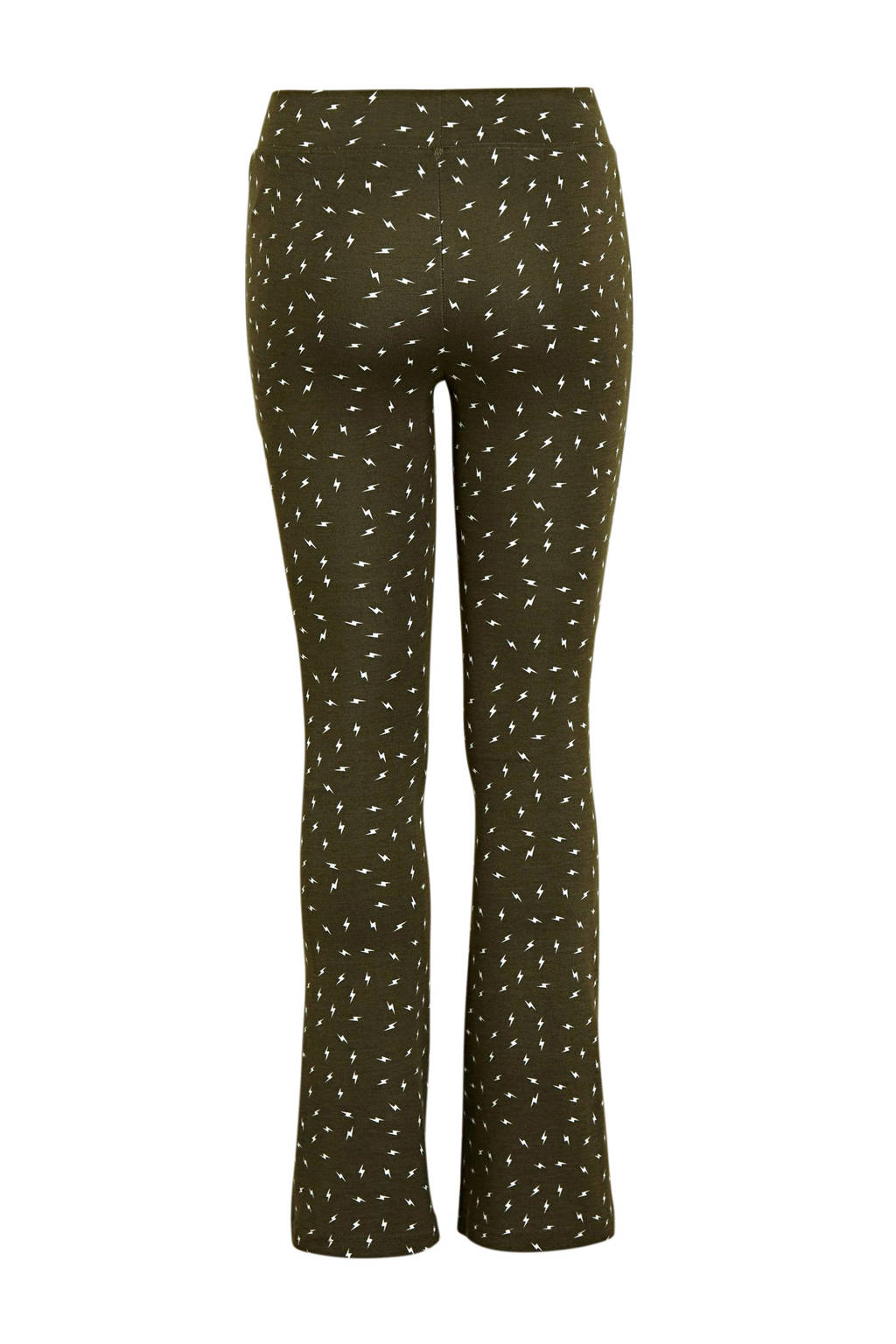 KIDS ONLY flared broek Paige met all over print groen, Groen