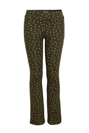 flared broek Paige met all over print groen