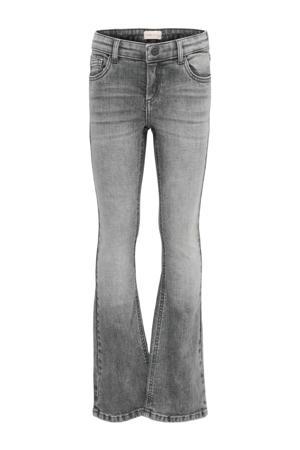 flared jeans Linn grijs stonewashed