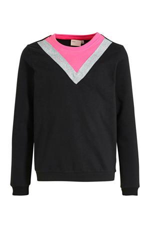 sweater Gyra met biologisch katoen zwart
