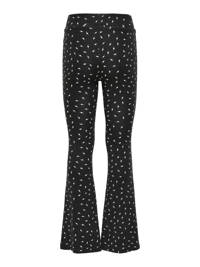 KIDS ONLY flared broek Paige met all over print zwart/wit, Zwart/wit