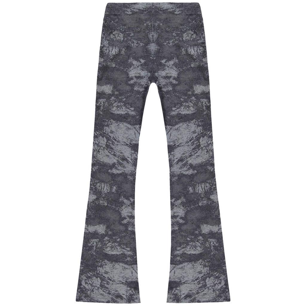 Cars tie-dye high waist broek Zuma zwart/grijs, Zwart/grijs