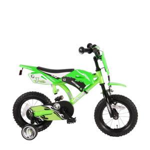 Motobike kinderfiets jongens 12 inch groen