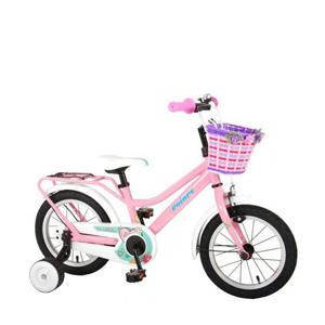 Brilliant kinderfiets meisjes 14 inch roze