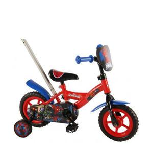 kinderfiets 10 inch Rood kinderfiets jongens 10 inch rood/blauw