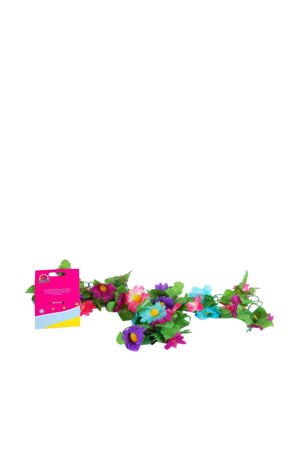 bloemen guirlande meisjes Multicolor