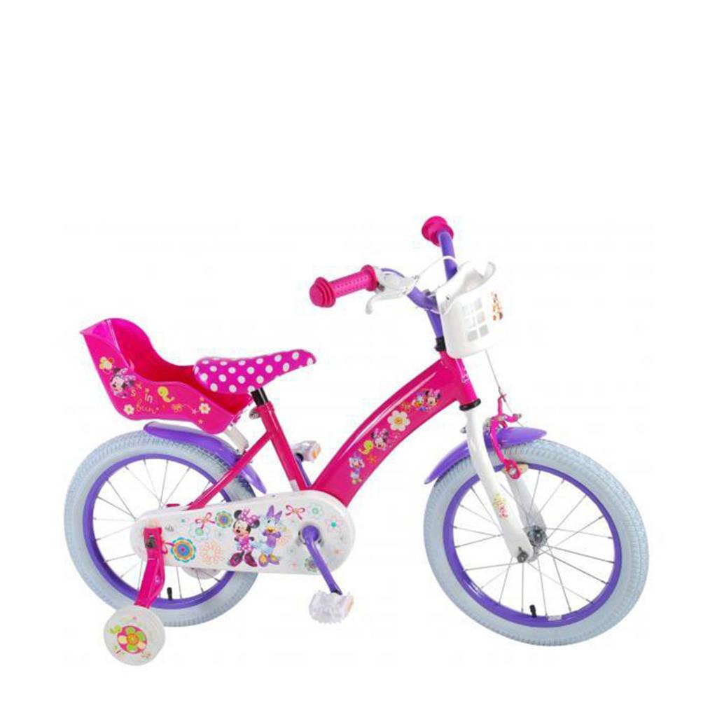 Disney  Minnie Bow-Tique kinderfiets meisjes 16 inch roze, Roze
