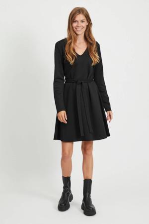 A-lijn jurk Sava met ceintuur zwart