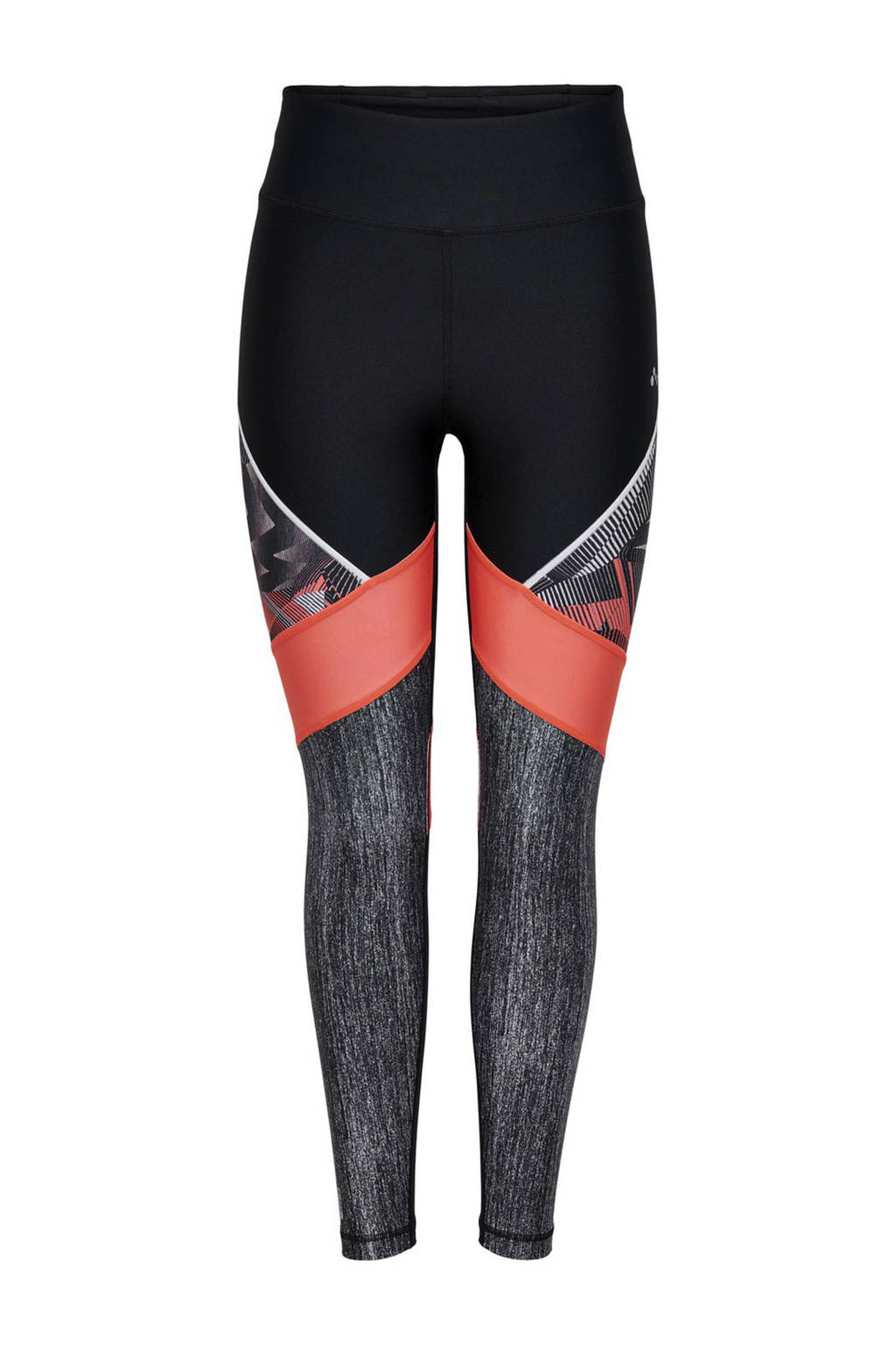 ONLY PLAY sportbroek Judie zwart/koraal/grijs