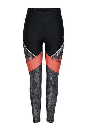 sportbroek Judie zwart/koraal/grijs