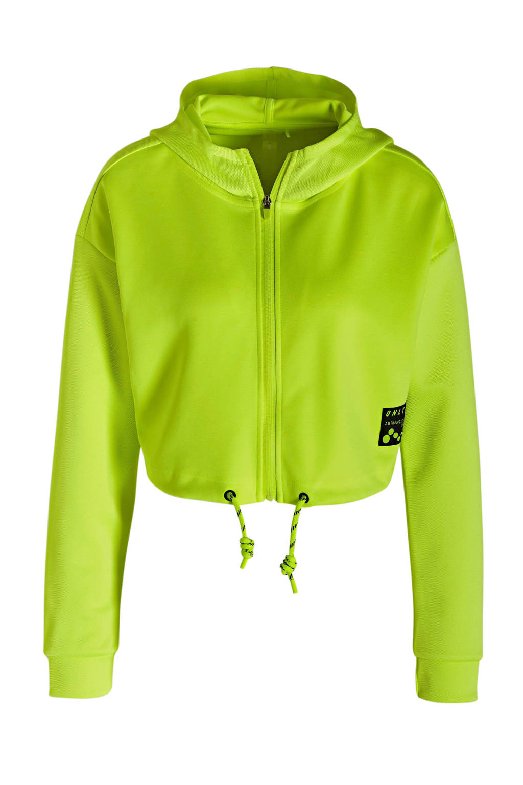 ONLY PLAY cropped sportsweater neon geel, Neon geel