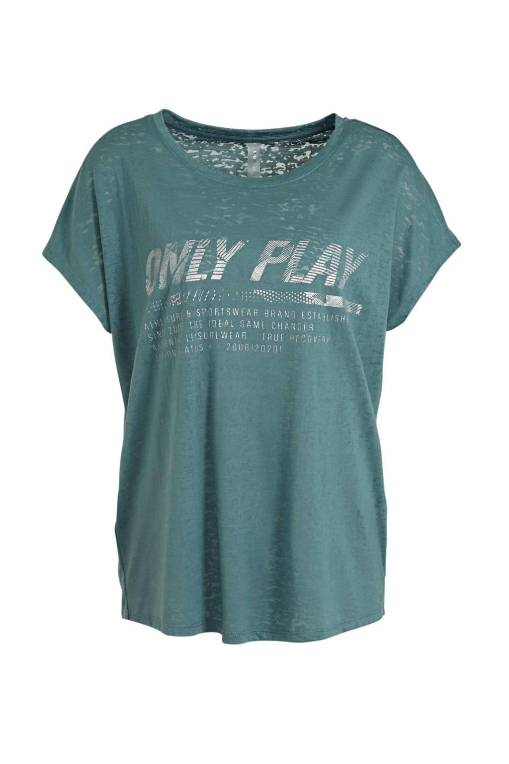 ONLY PLAY sport T-shirt Oreana blauw, Blauw
