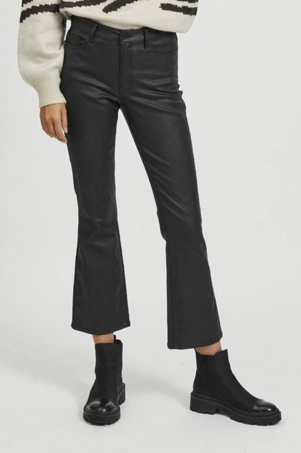 OBJECT flared jeans OBJBELLE black, Zwart